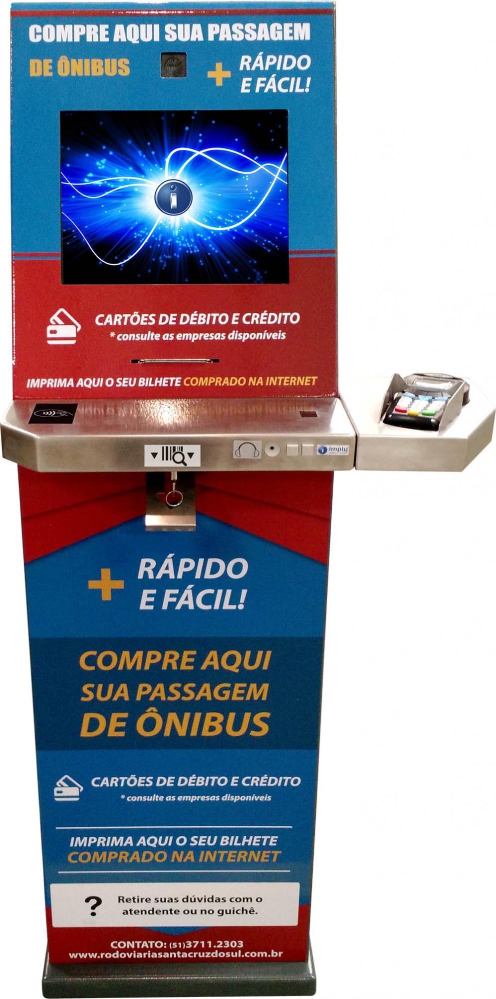 Terminal de autoservicio Imply integra el sistema de venta de boletos de la estación de autobuses de Santa Cruz do Sul